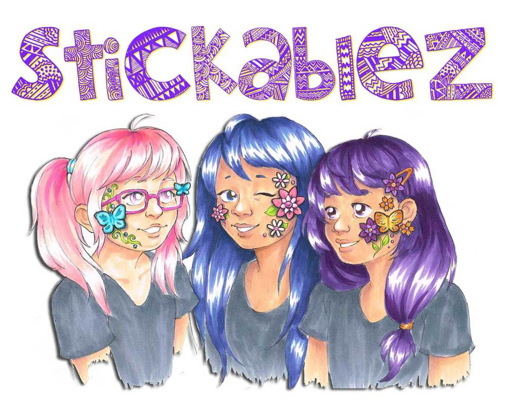Stickablez are 3D Face Art developed by Hongyun Art Red Cloud students over the past year as a fun, easy alternative to face painting which is very messy and time consuming.  Stickablez are peel-and-stick easy!