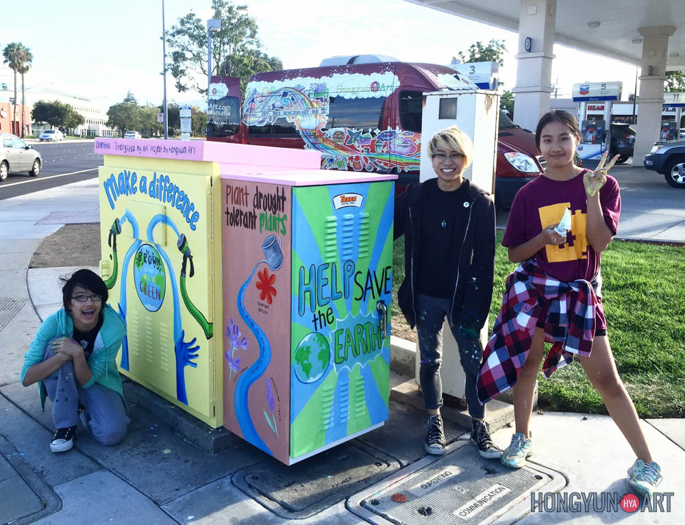 Winner - Energized by Art, Utility Box Art Competition  6th grade to