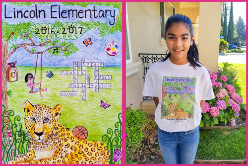 winner 2017 06 lincoln elementary yearbook cover hongyun art
