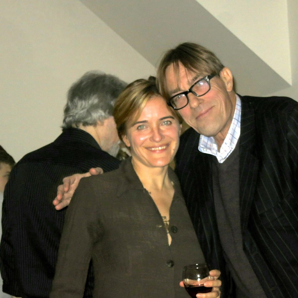 Elena Siyanko of the Clark Institute and gallerist Tim Hunt at post-concert celebration.