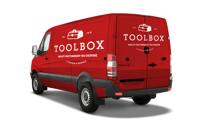 Toolbox Work Van Mockup