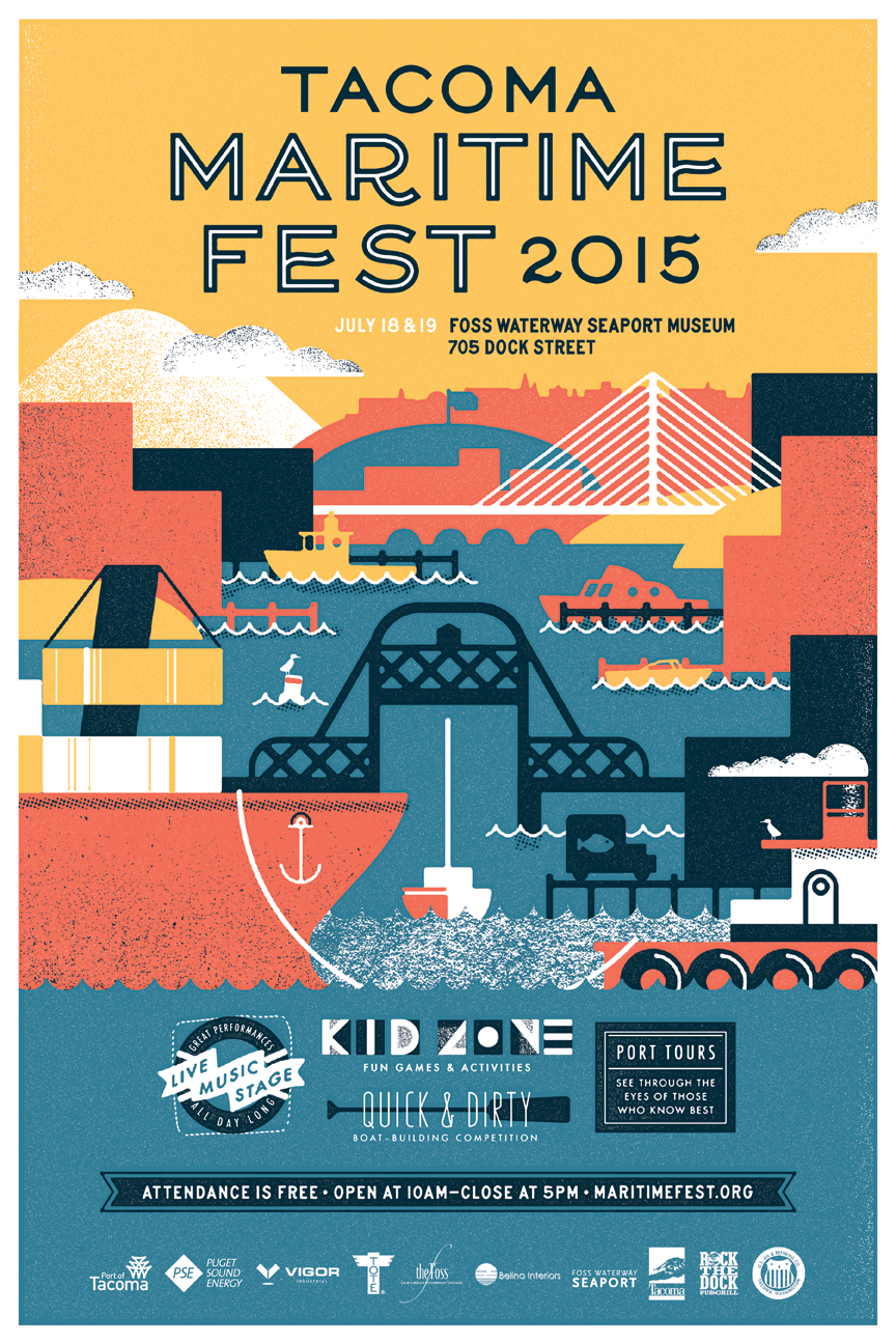 poster for Tacoma Maritime Fest 2015