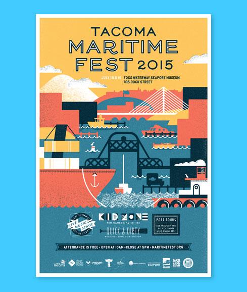 Tacoma Maritime Fest 2015 poster design