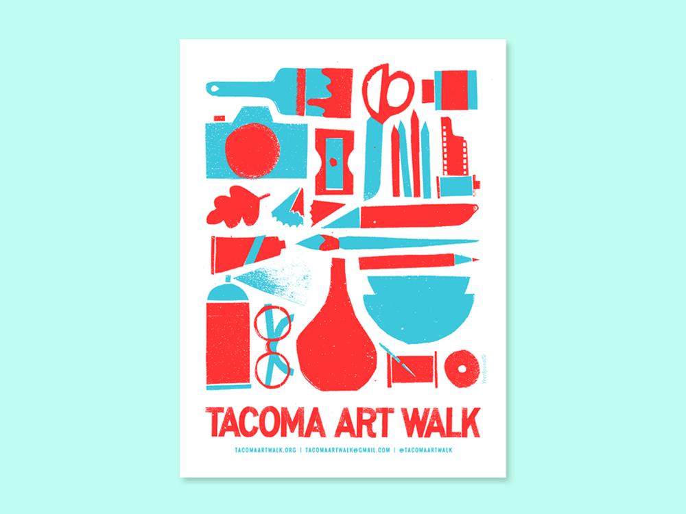 screen printed poster Tacoma Art Walk