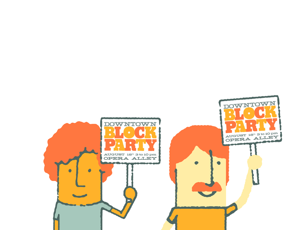 illustrations for Tacoma Downtown Block Party