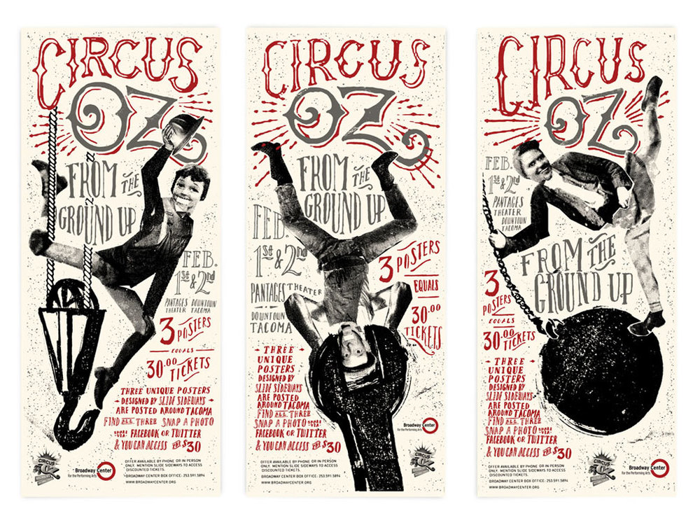 design & illustration for Circus Oz poster series