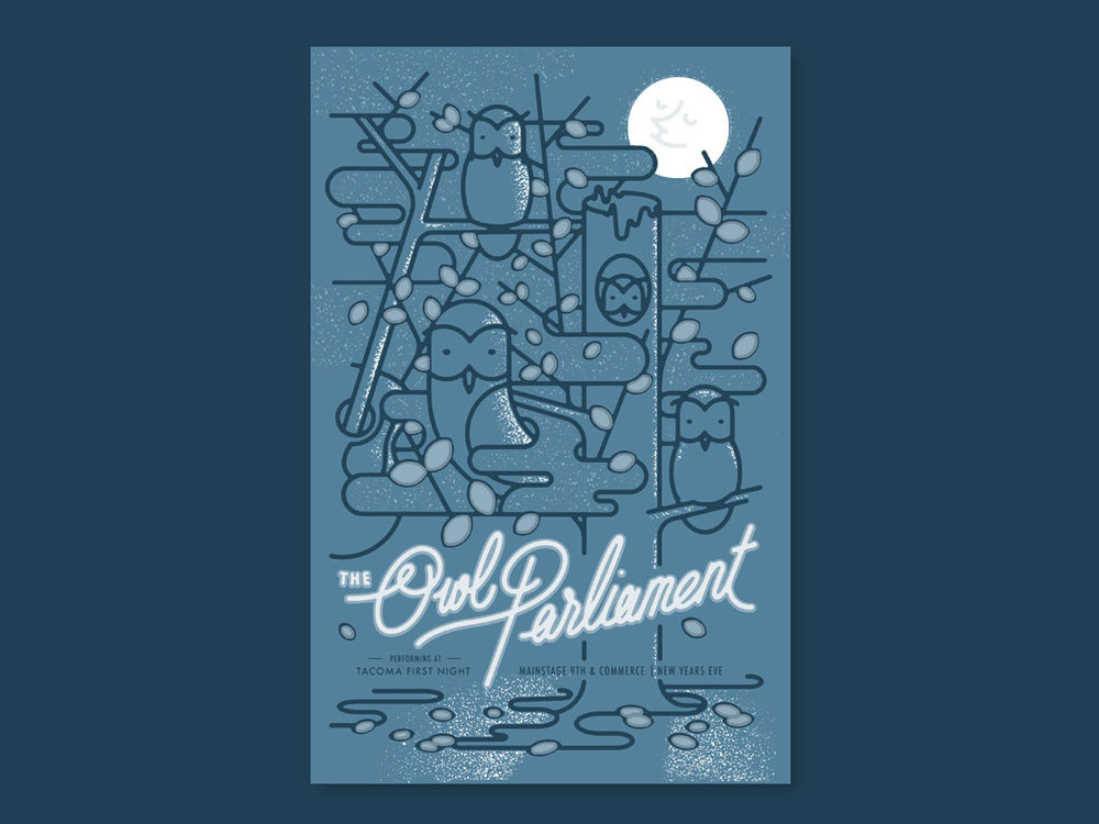 poster design & illustration for Owl Parliment