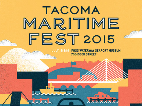poster design & art direction for Tacoma Maritime Fest