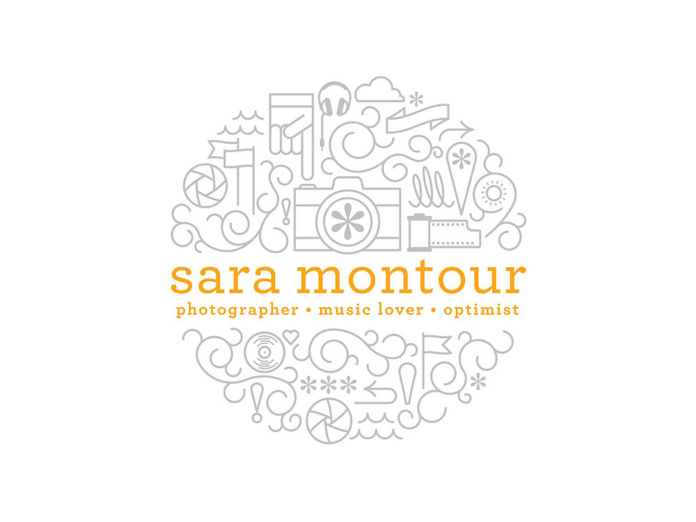 logo & branding for sara montour photographer