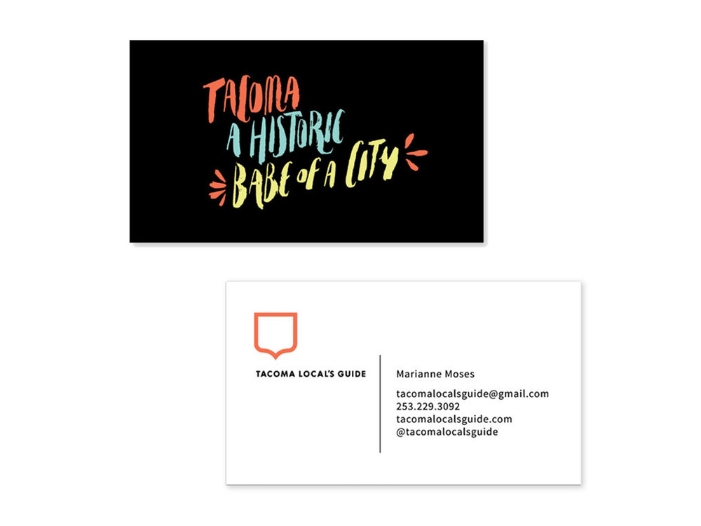 business card for Tacoma Local's Guide