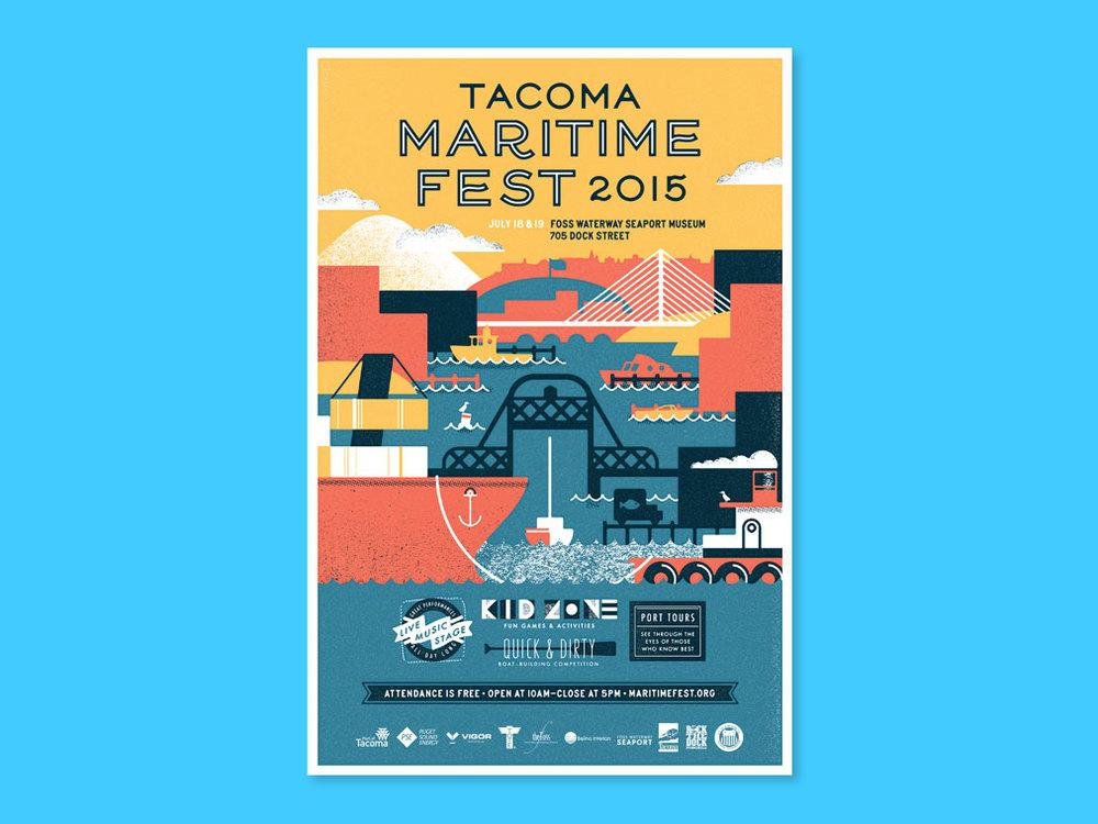 poster design tacoma maritime fest 2015