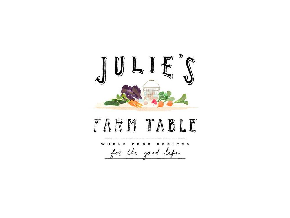 logo and branding for Julie's Farm Table