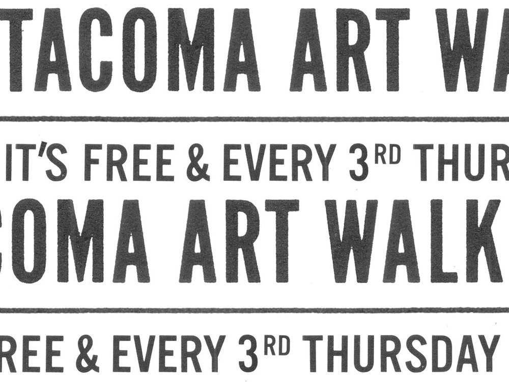 typography for Tacoma Art Walk