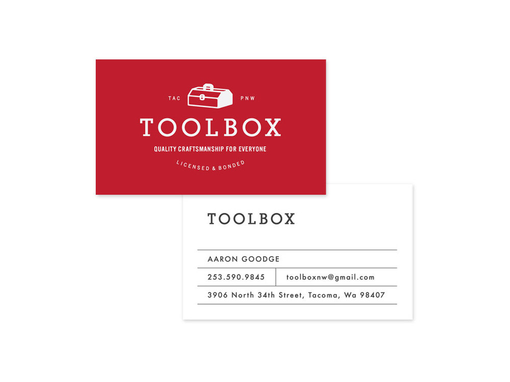 business cards for toolbox