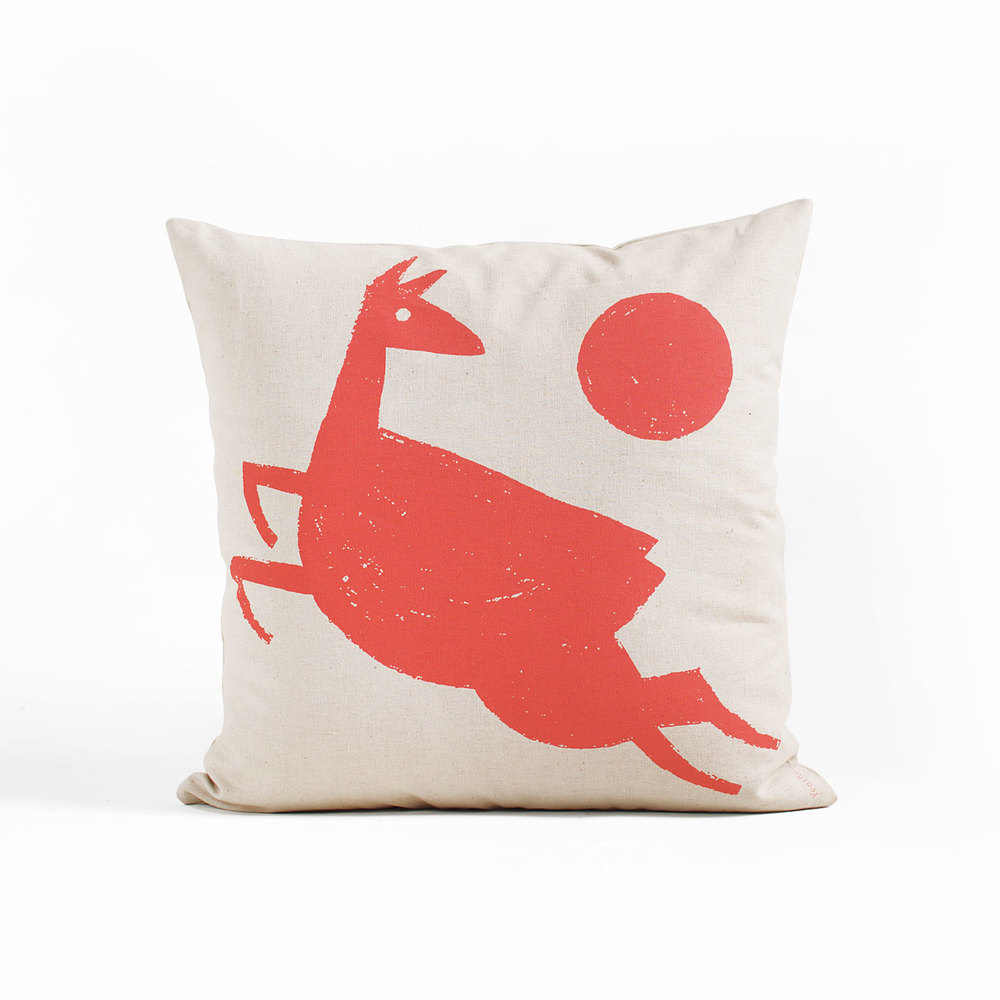 organic linen deer pillow by Year Round Co.