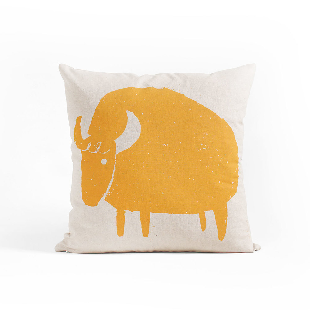 organic linen bison pillow by Year Round Co.