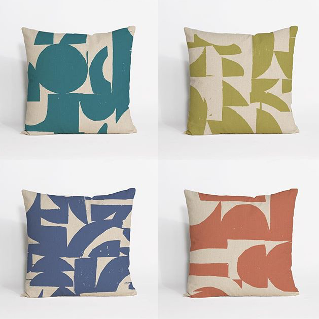 new patterned pillows