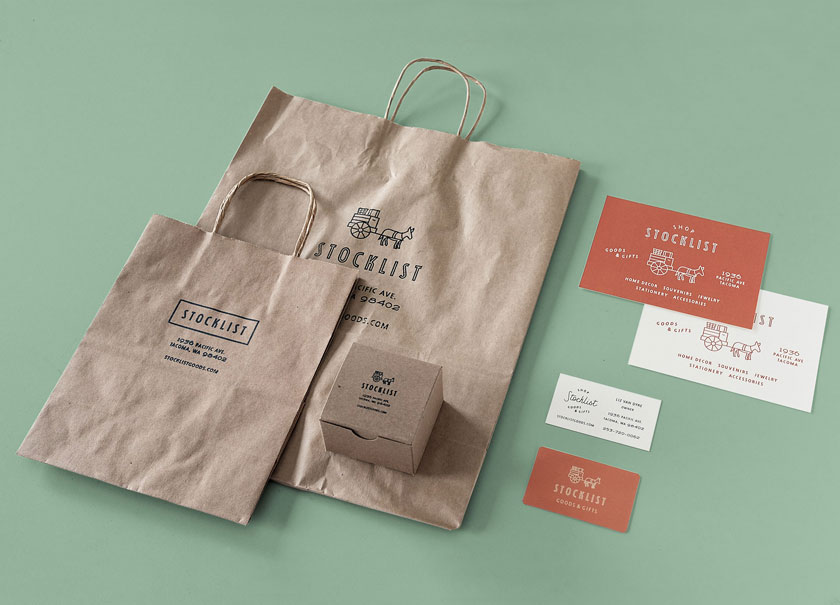Stocklist Goods & Gifts packaging
