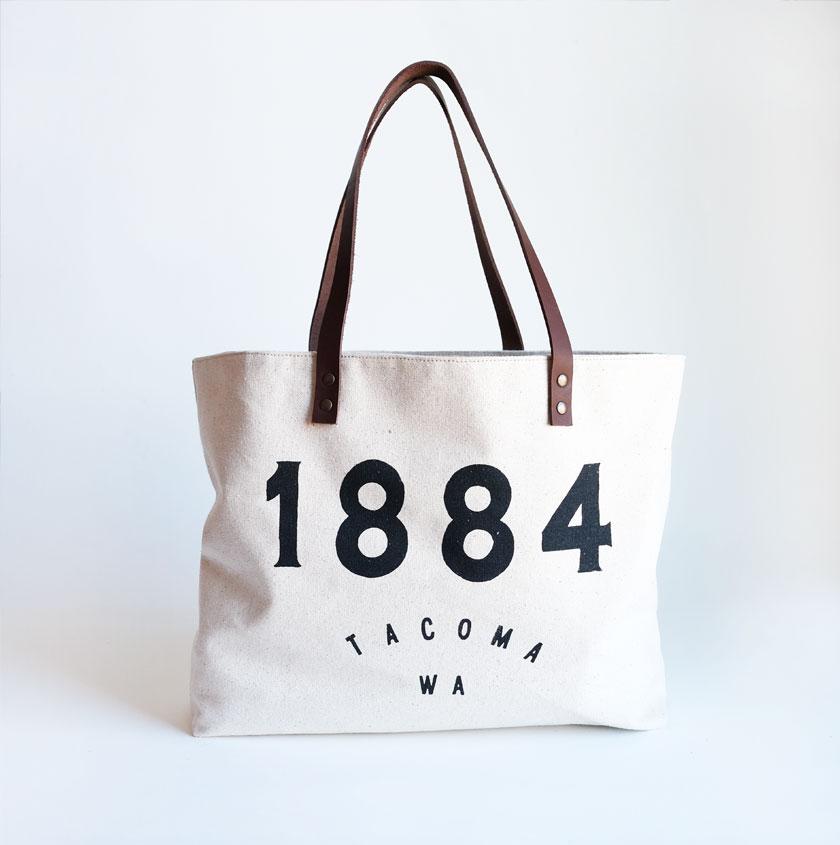 1884 Tacoma logo tote