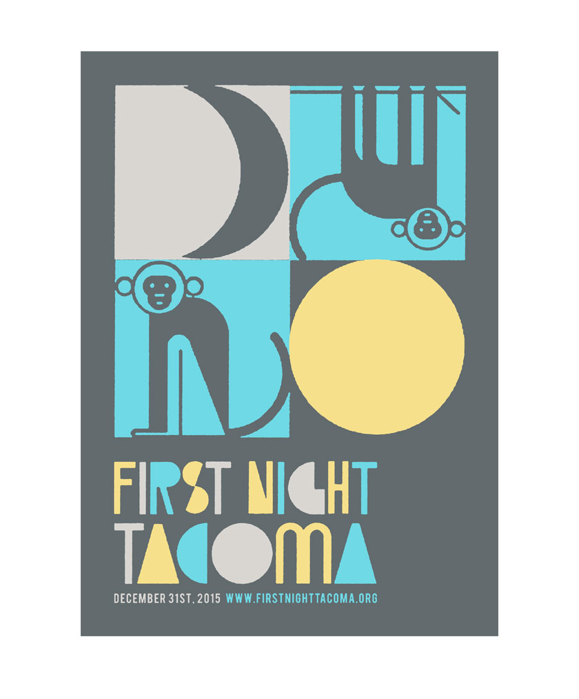 First Night Tacoma poster design Year Round Co.