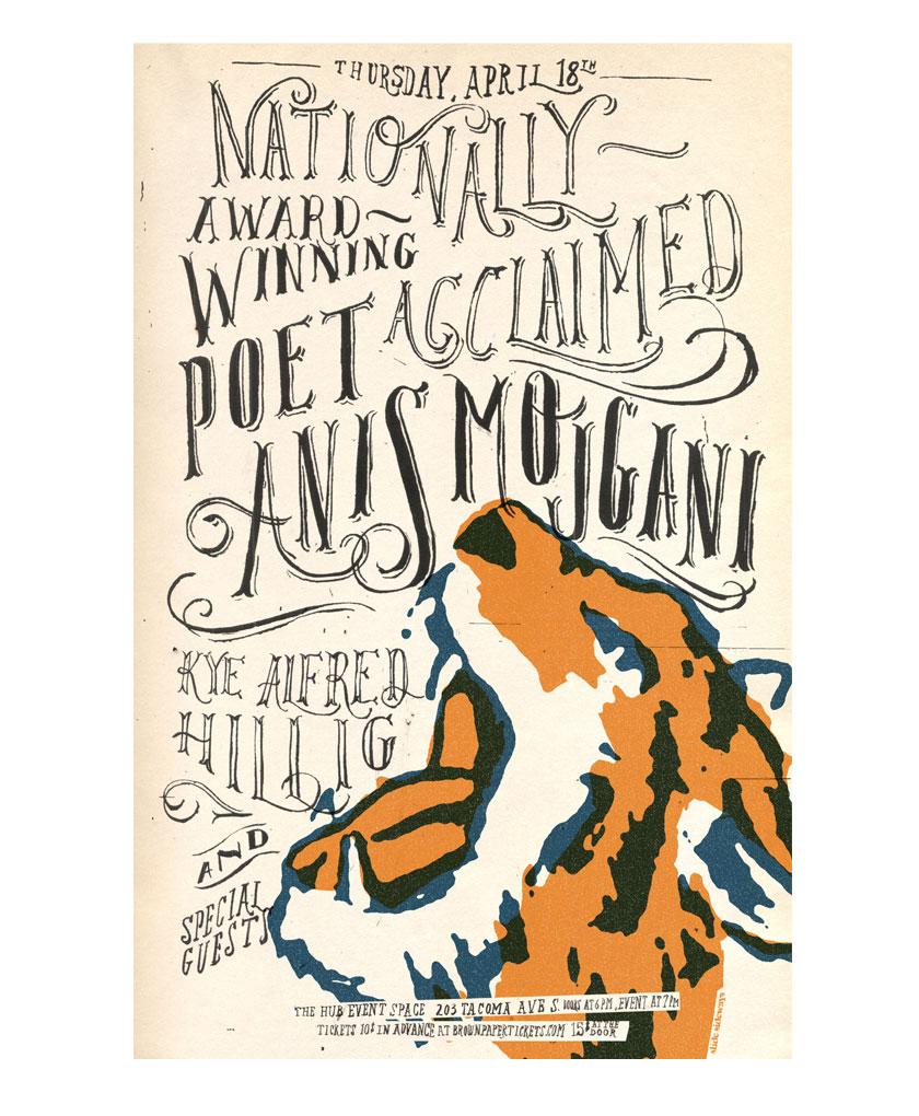 Anis Mojgani poster design