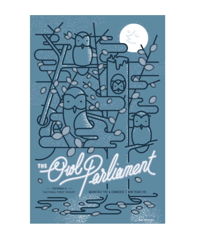 Owl Parliament poster design