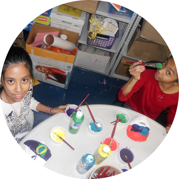 Painting masks...every FYI participant gets to create a mask of themselves once they've completed 50 hours with us.