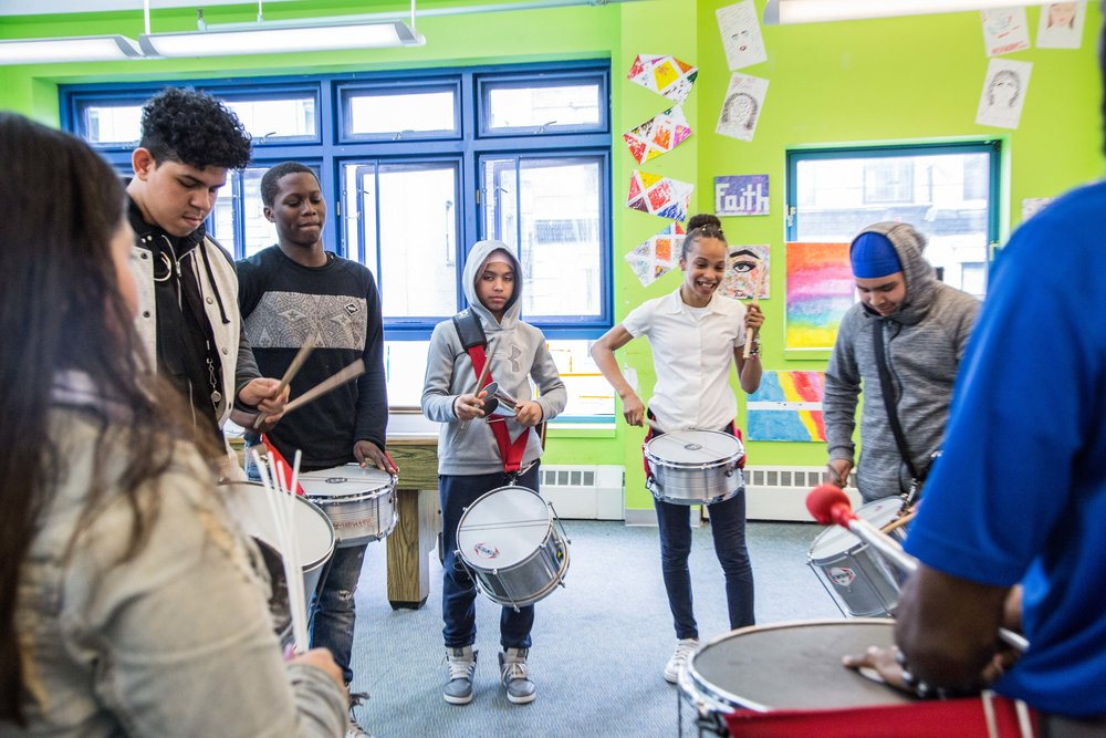 FYI's Samba Drumming Corp is made possible by your donations, which assist us in purchasing equipment to give our participants an enriched experience!