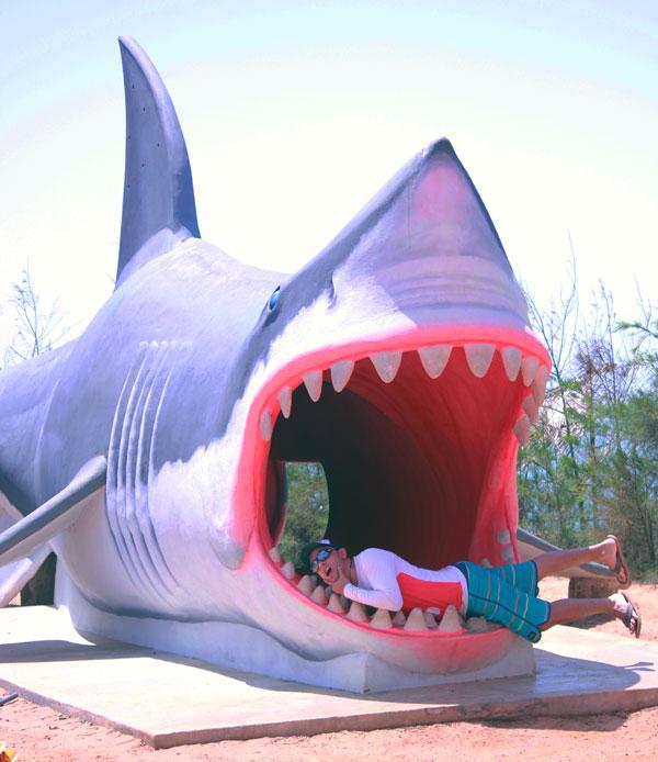 Sandip in Jaws