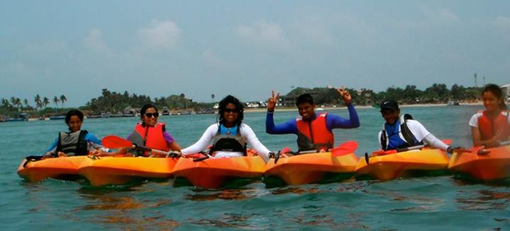 Govinda Hirvale in Tamil Nadu- Kayaking
