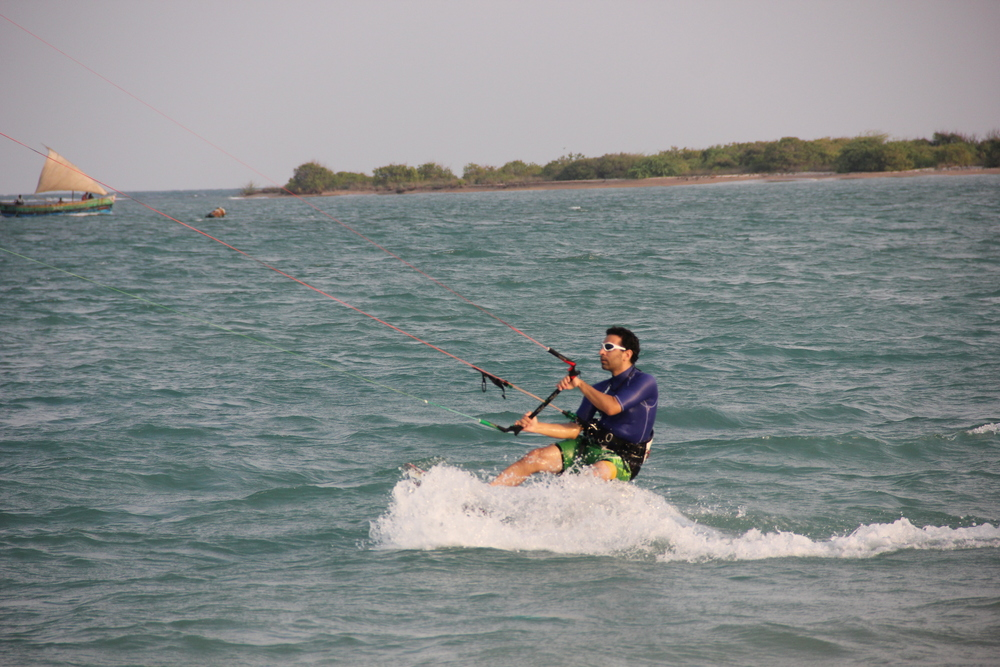 Bangalorean learning Kiteboarding