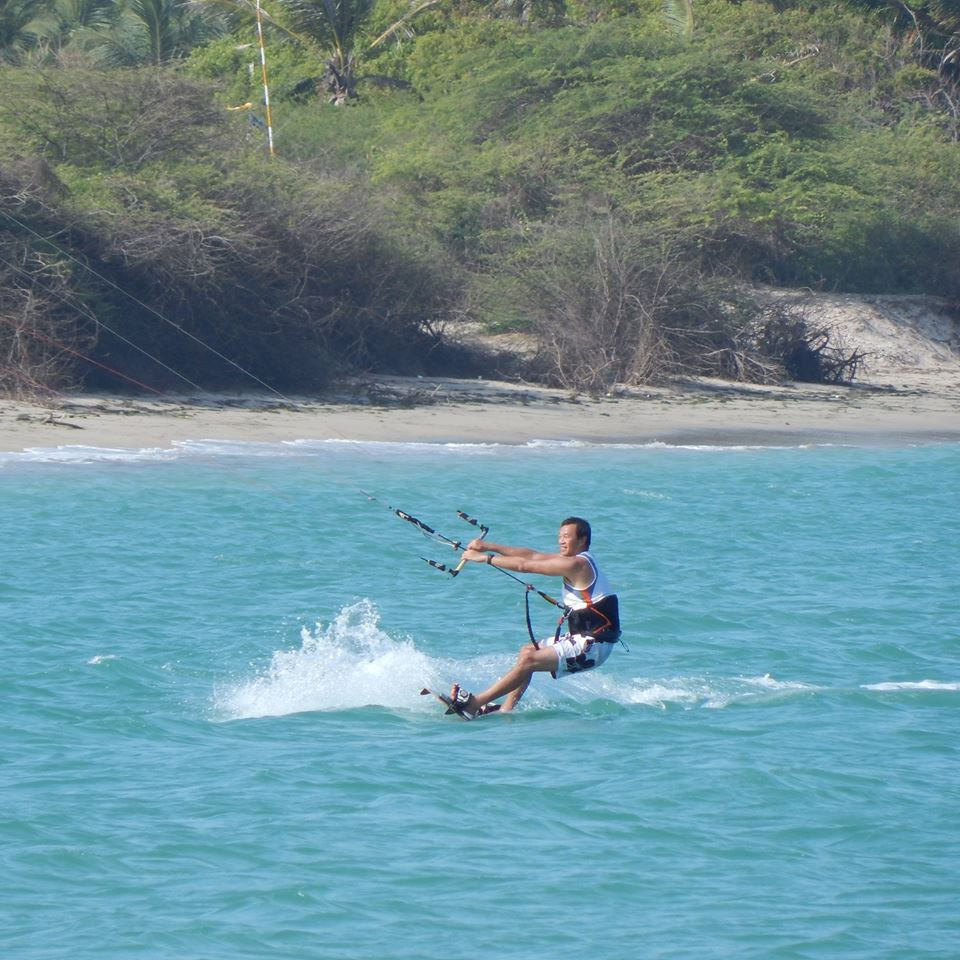 Olivier having fun Kiteboarding in India- photo credit John Vfx