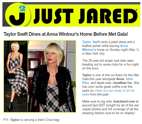 Just Jared.com - Taylor Swift Dines at Anna Wintour's Home Before Met Gala - 5.3.16.jpg