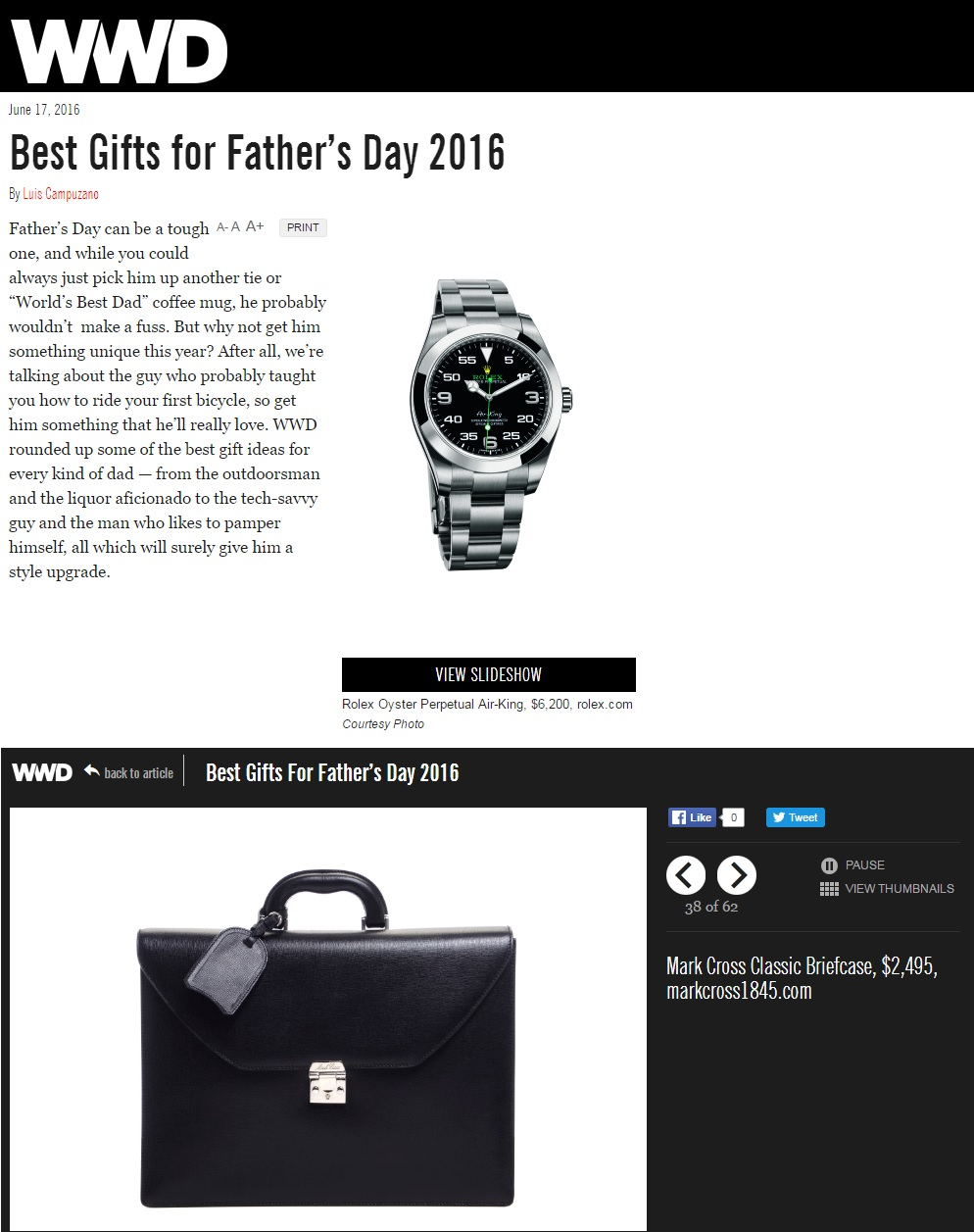 WWD.com - Best Gifts for Father's Day 2016 - June 17, 2016.jpg