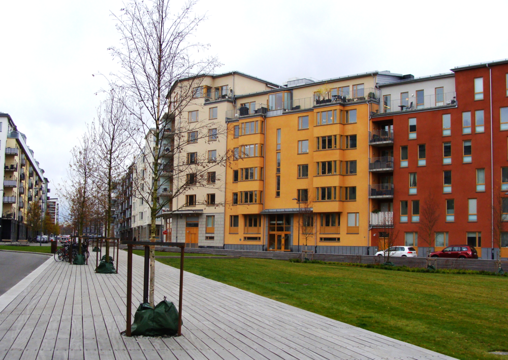 The Stockholm Royal Seaport neighbourhood has high standards for sustainability performance to push forward innovation