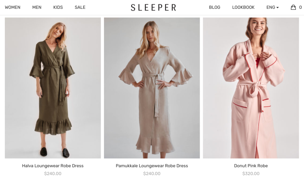 Robes by  The Sleeper  designed to be worn wherever.
