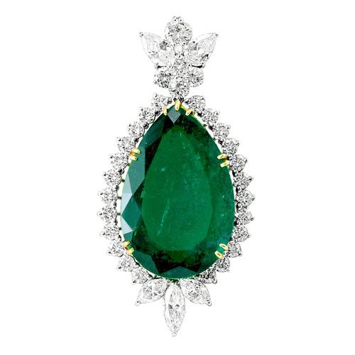 Impressive 41 carat colombian emerald diamond pendant raf rare impressive 41 carat colombian emerald diamond pendant aloadofball Images