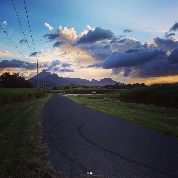Our drag strip at Murwillumbah - Views of Mt Warning