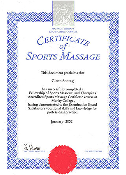 FSMT Accredited Sports Massage Certificate — Blue Eye Osteopathy