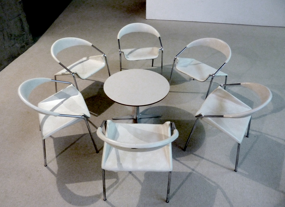 """Expectation drives behavior, so change expectation to change outcome."" said professor Margaret Neale. (photo by Junko Yamamoto: chairs at Museum of Modern Art, Gunma)"
