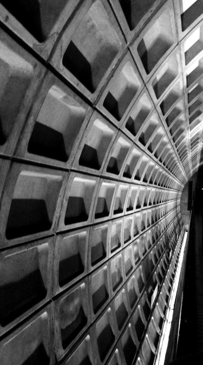 In my opinion, the success of a building means resulting in being well used,  appreciated and loved.  (photo by Junko Yamamoto: Subway in DC)