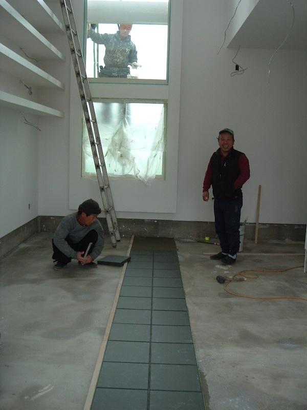 photo by Junko Yamamoto: floor tiles