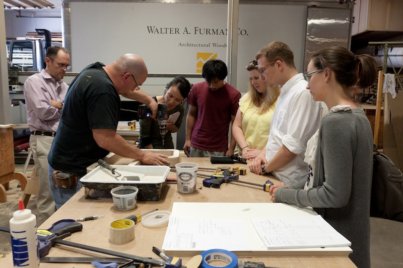 photo by Kye Liang: Demonstration by Walter Furman - they showed us how the furniture can be assembled.