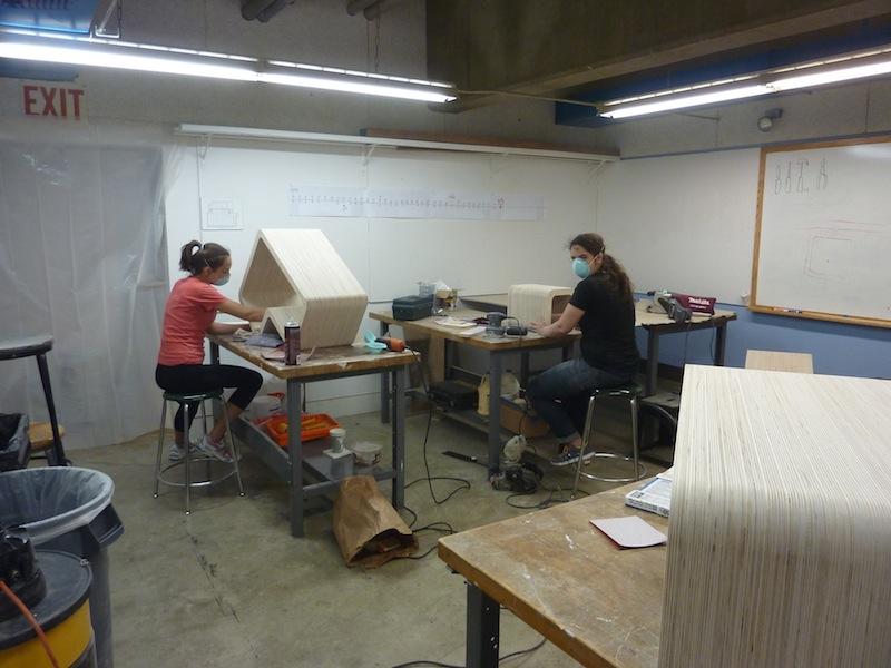 photo by Junko Yamamoto: Lots of sanding.