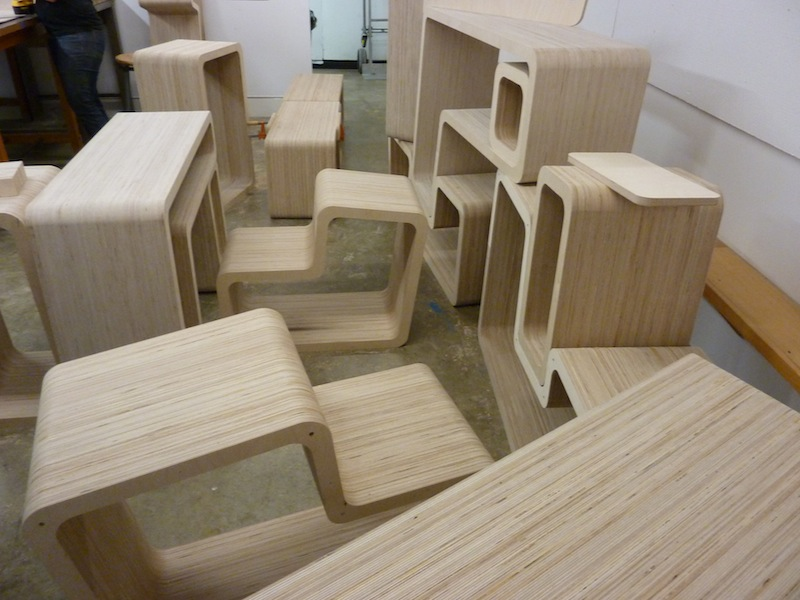 photo by Junko Yamamoto: all pieces are assembled and ready for finish