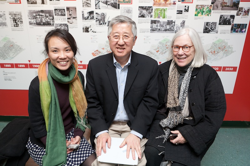 photo by Kye Liang: My favorite bosses Randall Imai and Karen Moore, and me.