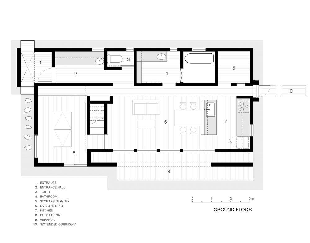 Ground Floor Plan by Junko Yamamoto