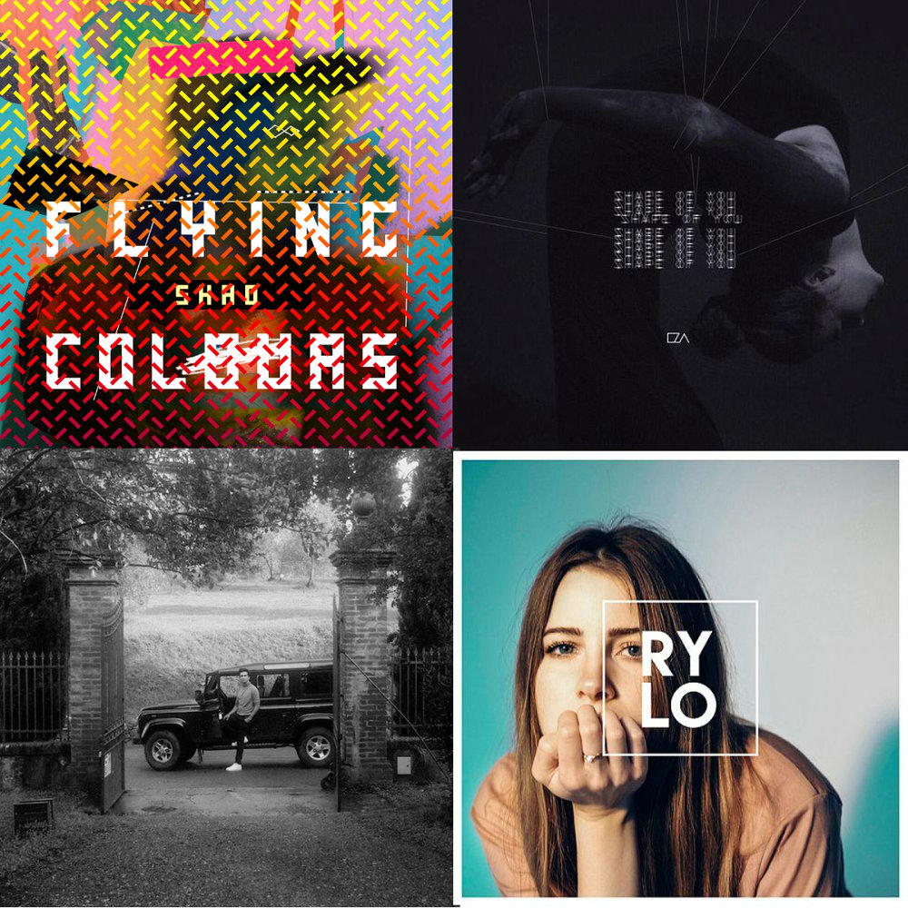 Artists's albums from top left to bottom right: SHAD, EZA, Francis and the Lights, RY-LO