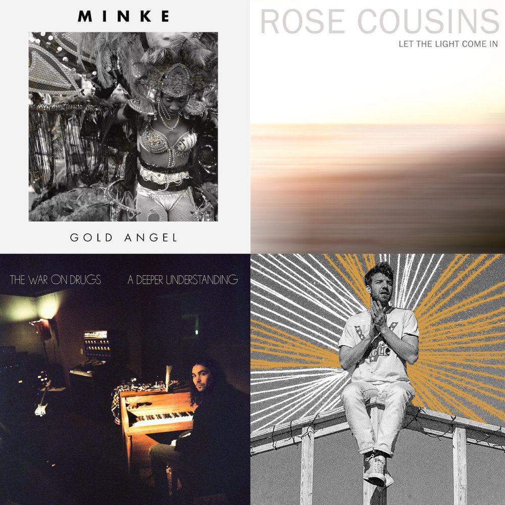 Artists's from top left to bottom right: Minke, Rose Cousins, The War On Drugs, Andrew Belle