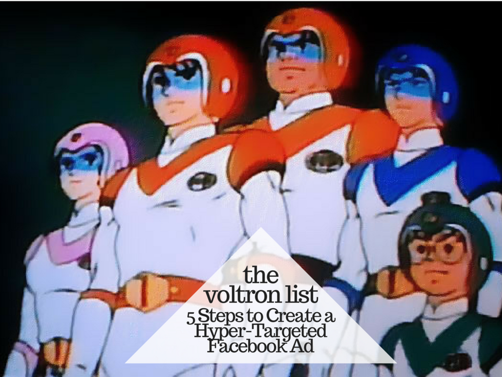 GO VOLTRON FORCE!  Don't get the reference? That's okay, not everyone is as cool as me.